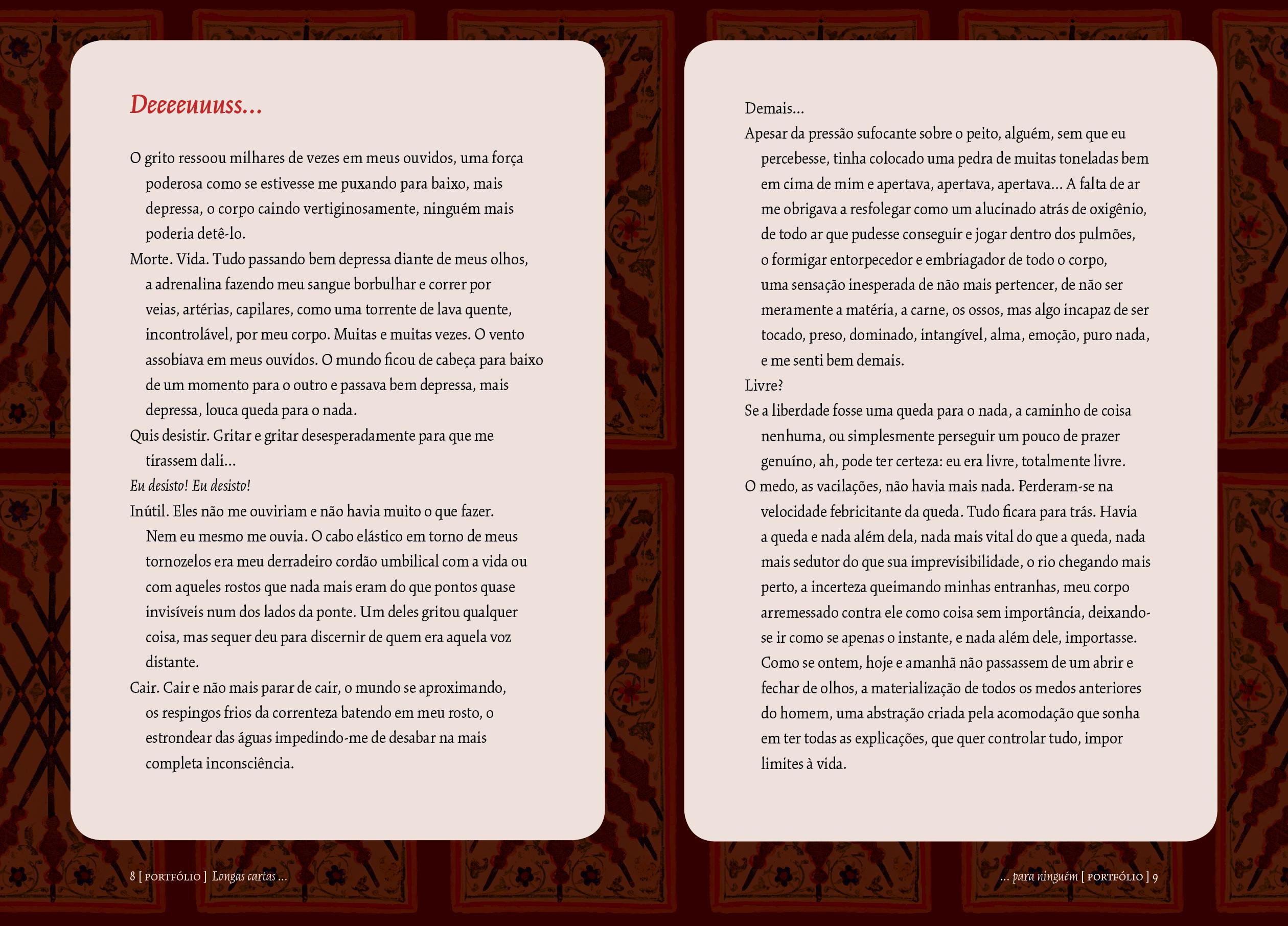 Sobre O Design Do Livro Longas Cartas Pra Ninguém Versalete